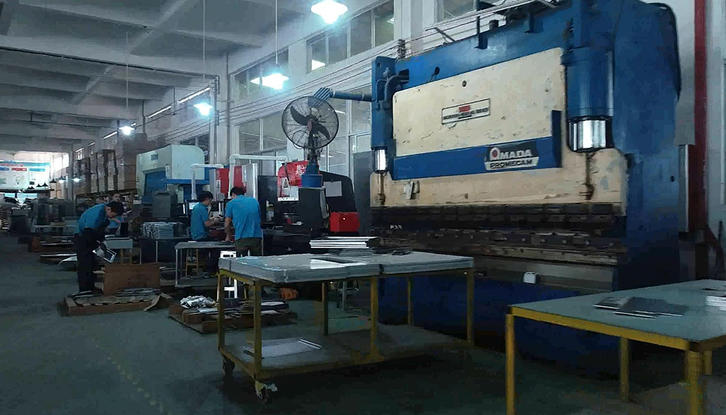 Sheet Metal Fabrication CNC bending machine display area