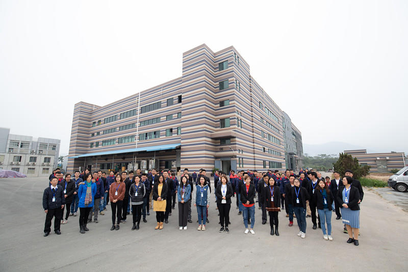 Morning meeting of all staff in Dongji