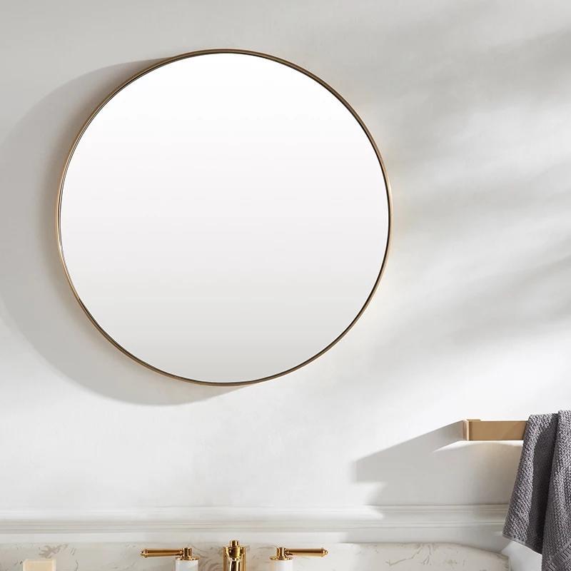 decorative antique gold round wall mirror
