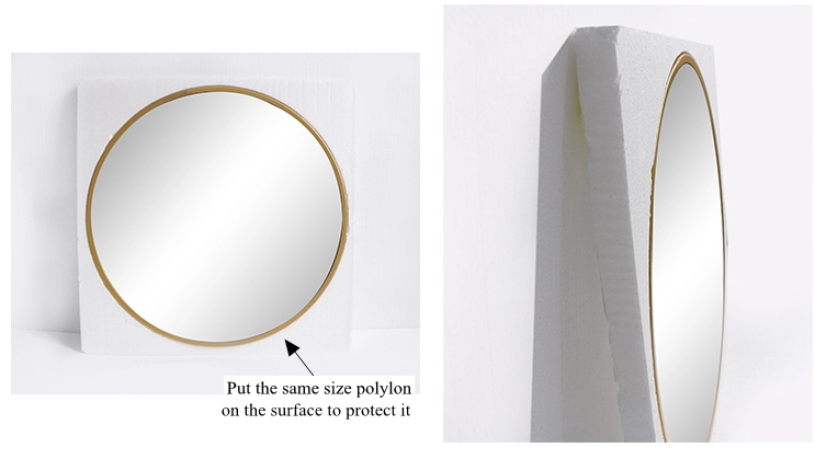 304 stainless steel round wall mirror