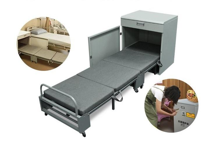 Medical escort bed