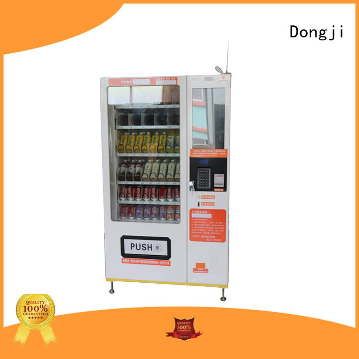 refrigeration Custom screen button vending machine Dongji unmanned