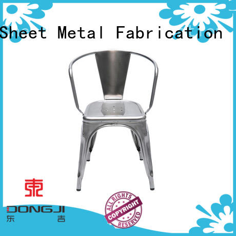 Dongji coffee colored metal chairs Supply for metal processing factories